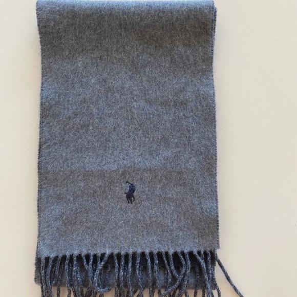 Polo Ralph Lauren Blue Gray Men's Wool Scarf